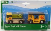 Brio 33907 Tanker Truck with Wagon
